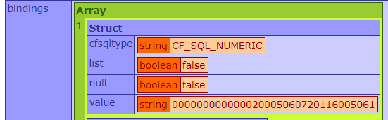 Wrongly inferred SQL type in the QB module