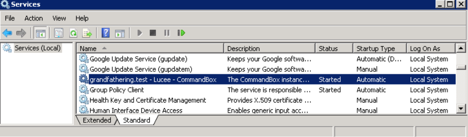 A Windows service example of a NSSM setup